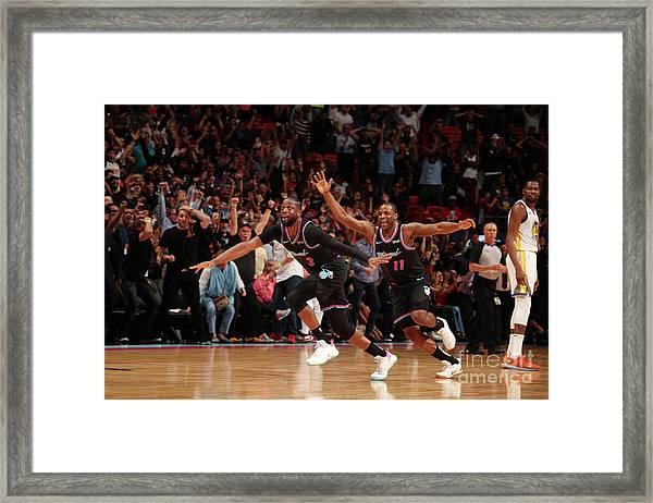 Golden State Warriors V Miami Heat Framed Print