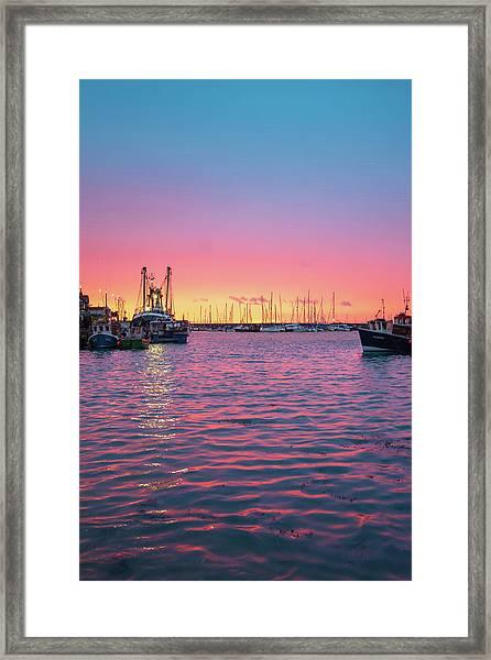 Harbour Lights Framed Print
