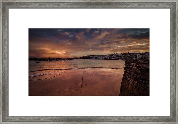 Harbour Sunset - St Ives Cornwall Framed Print