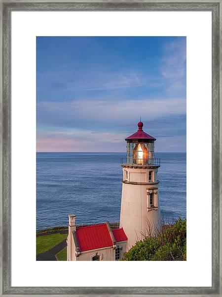 Heceta Head Lighthouse Framed Print by Andrew Soundarajan