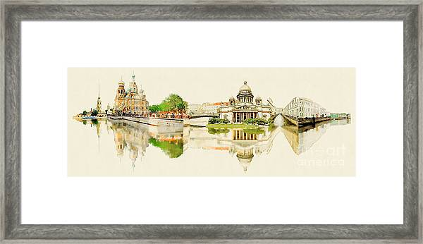 High Resolution Panoramic Water Color Framed Print by Trentemoller
