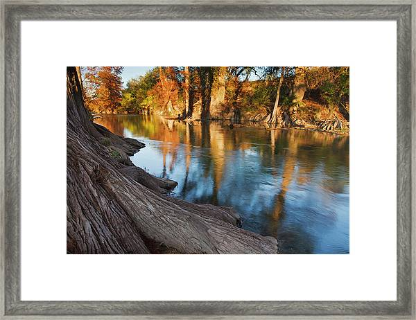 Hill Country At Autumn, Guadalupe Framed Print