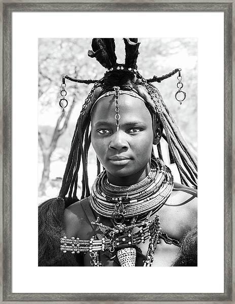 Himba Girl Framed Print