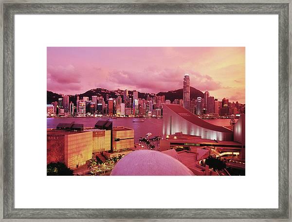 Hong Kong Island Skyline, Victoria Framed Print