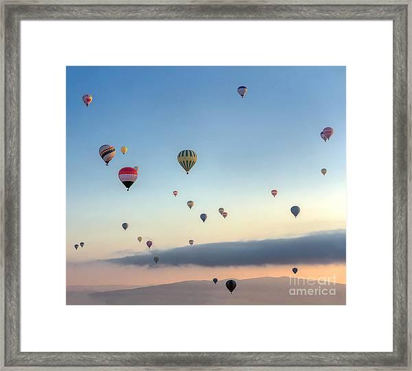 Hot Air Balloons Atmosphere Ballons Framed Print