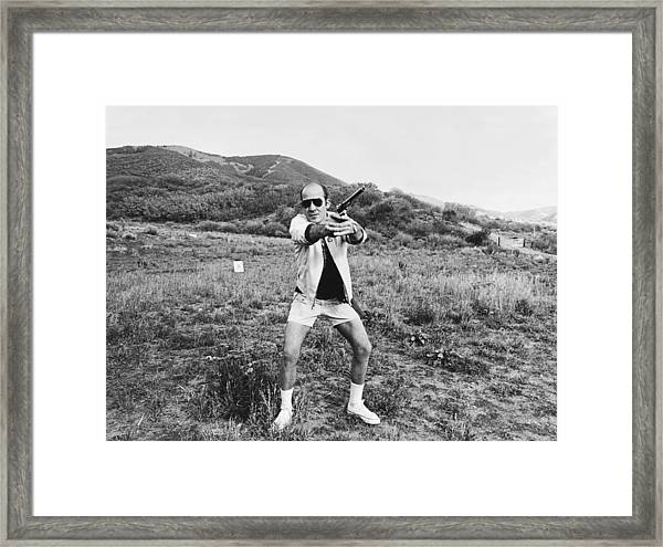 Hunter S. Thompson Framed Print by Michael Ochs Archives