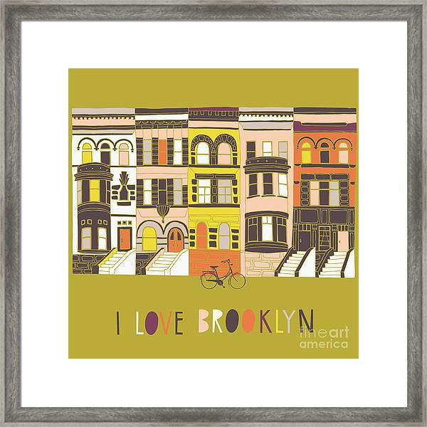 I Love Brooklyn Print Design Framed Print