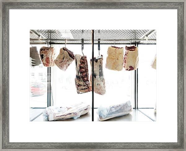 Interior Of Butcher Framed Print