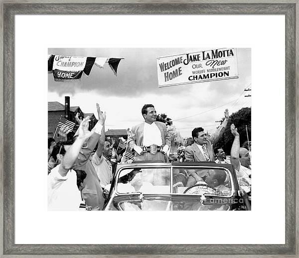 Its All Jake In The Bronx. Jake Lamotta Framed Print