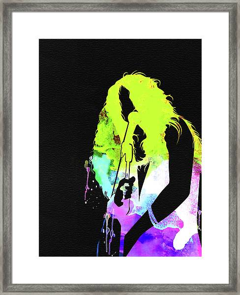 Janis Watercolor Framed Print