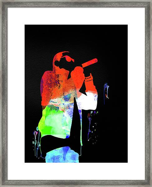 Jay-z Watercolor Framed Print
