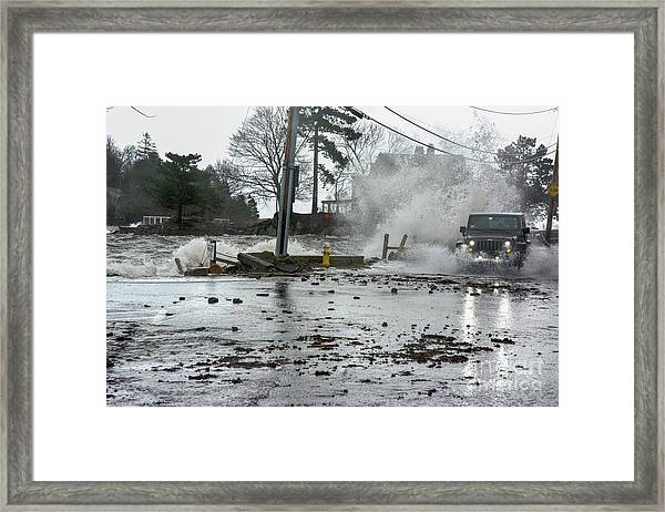 Jeep Splash Framed Print
