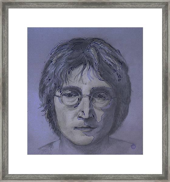 John Lennon Re-imagined Framed Print