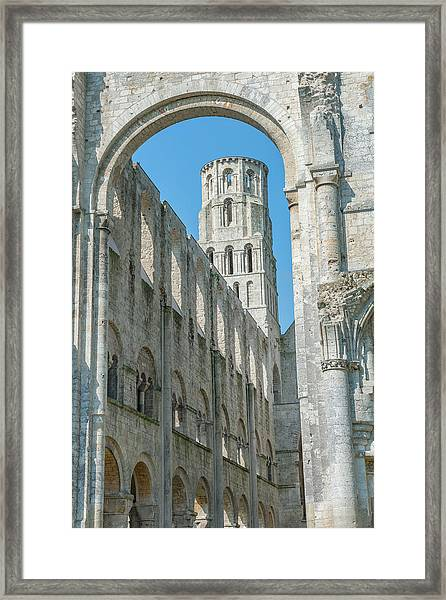 Jumieges Abbey, Jumieges, Normandy Framed Print by Lisa S. Engelbrecht