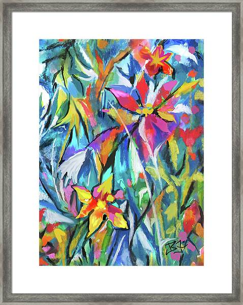 Jungle Garden Framed Print