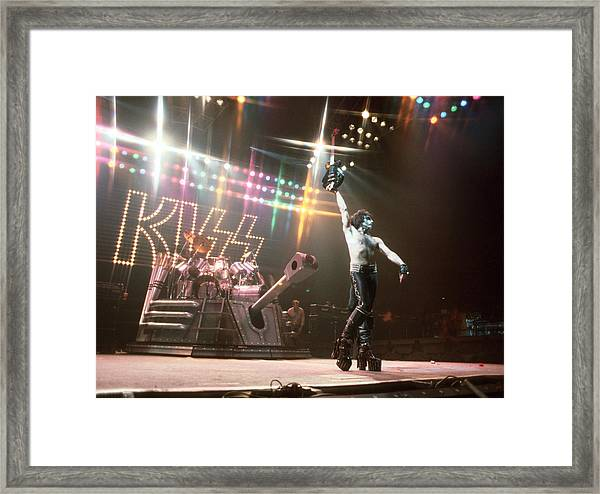 Kiss Performing Framed Print