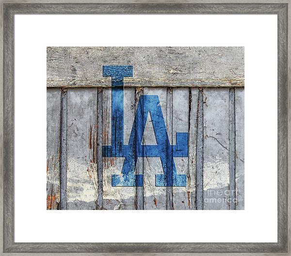 La Dodgers Framed Print