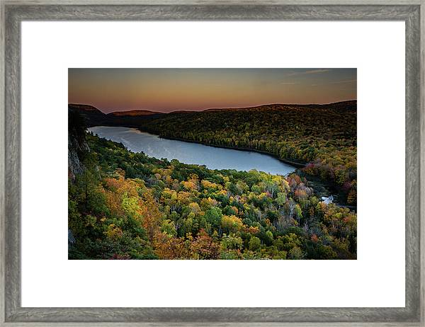 Lake Of The Clouds Framed Print