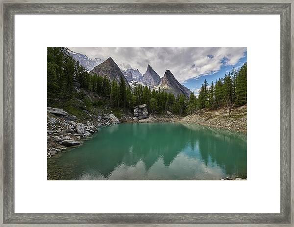 Lake Verde In The Alps Framed Print