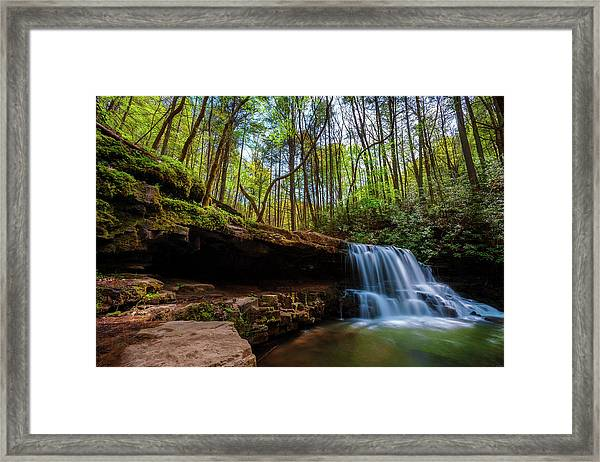 Laurel Run Waterfalls In Tennessee Framed Print