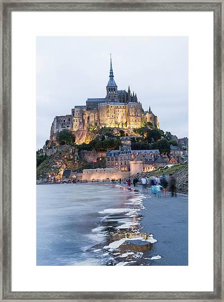 Le Mont Saint Michel, Normandy, France Framed Print