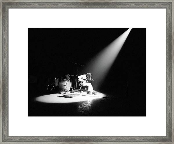 Led Zeppelin Performs In 1972 Framed Print by Michael Ochs Archives