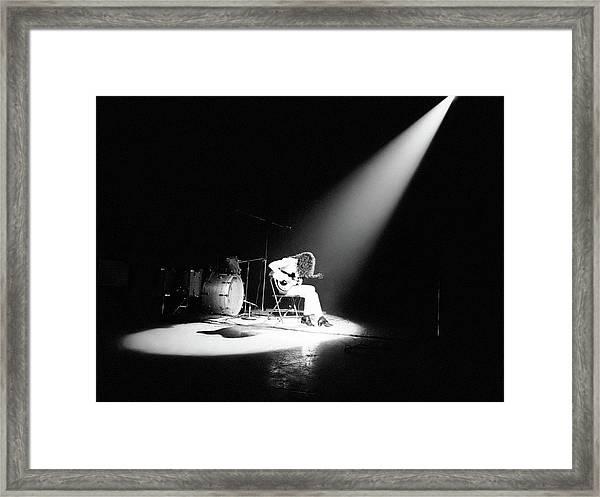 Led Zeppelin Performs In 1972 Framed Print