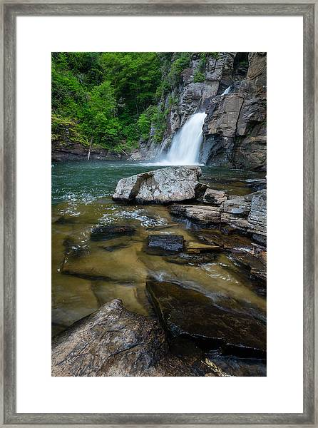 Linville Gorge - Waterfall Framed Print