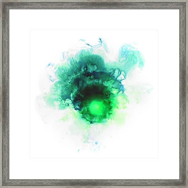 Liquid Color In Water Framed Print by Sunny
