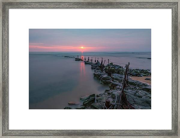 Longhoughton Beach - England Framed Print