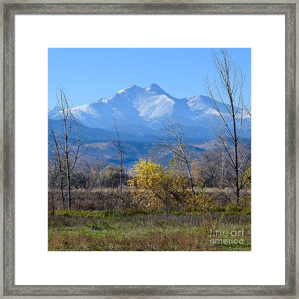 Longs Peak In The Fall  Framed Print