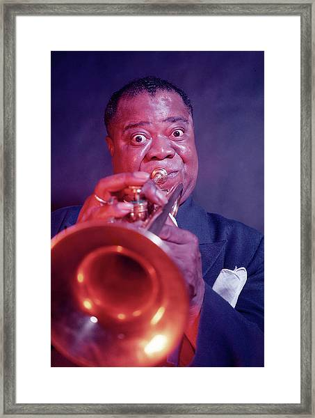 Louis Armstrong Framed Print by Eliot Elisofon