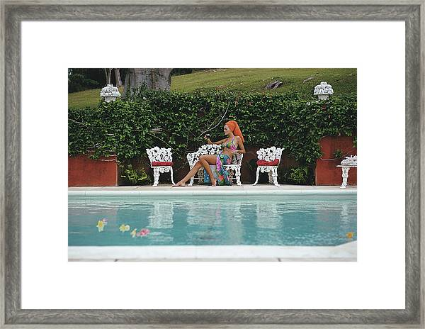 Lounging In Bermuda Framed Print