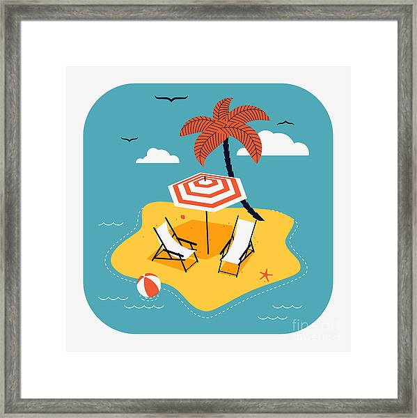 Lovely Vector Web Icon With Rounded Framed Print