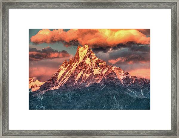 Machapuchare Mountain, Fish Tail In Framed Print by Emad Aljumah