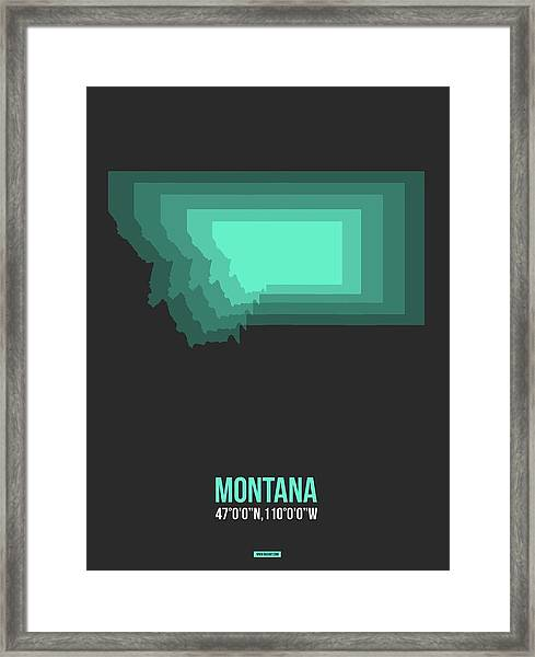 Map Of Montana 3 Framed Print