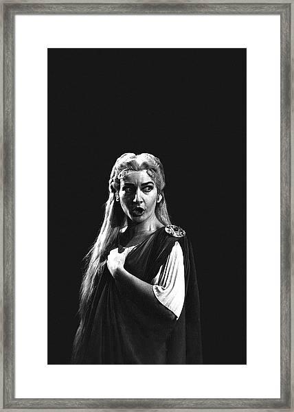 Maria Callas Framed Print by Gordon Parks