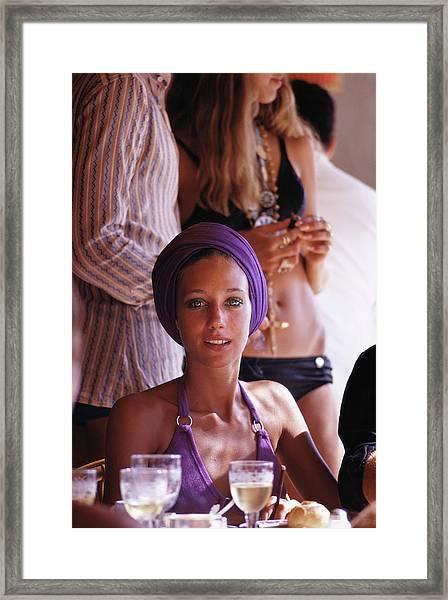 Marisa Berenson Framed Print