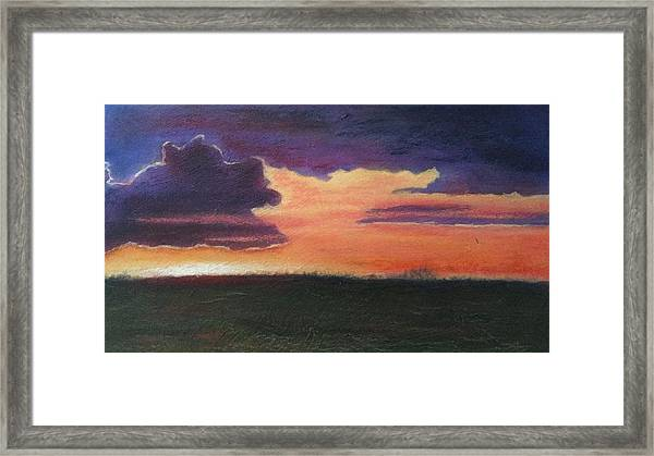 Marsh Sunset Framed Print