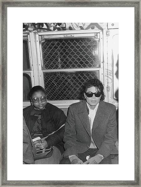 Michael Jackson In Bad Framed Print by Hulton Archive
