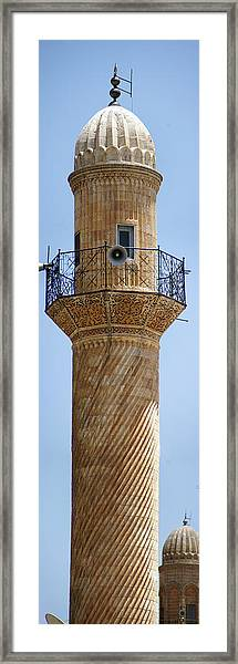 Minaret Of Ulu Cami Mosque Framed Print