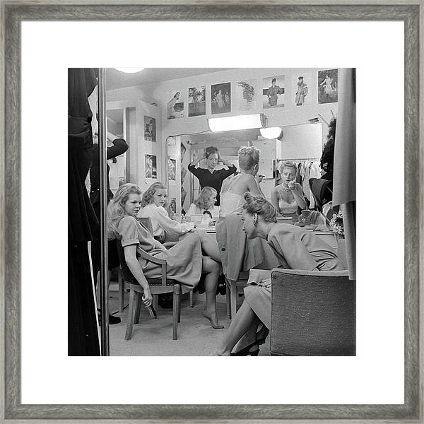 Models At The Neiman Marcus Store, An Framed Print