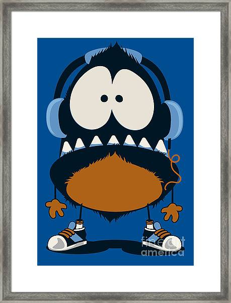 Monster Vector Design Framed Print