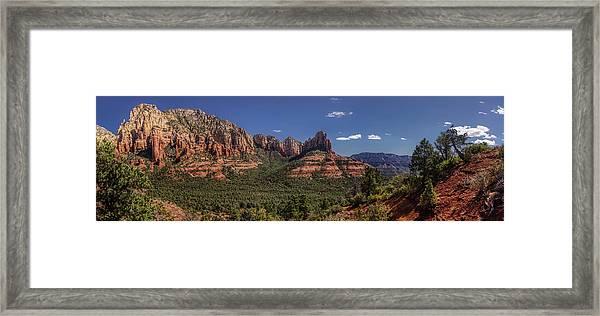 Mormon Canyon Panorama Framed Print