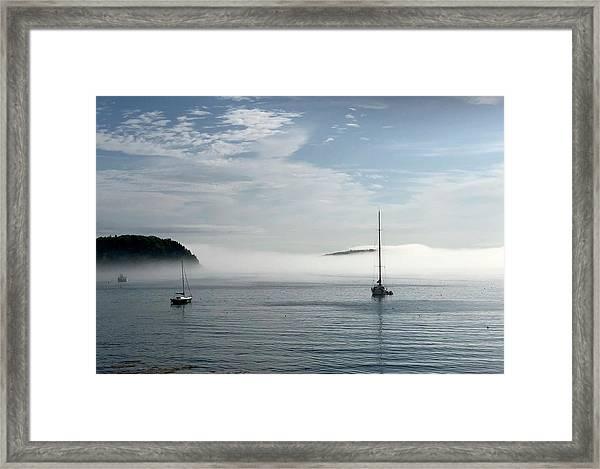 Morning Mist On Frenchman's Bay Framed Print