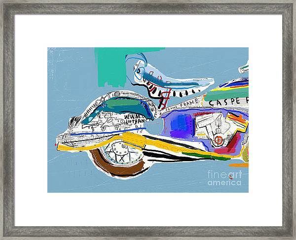 Motorcycle Image Which Consists Of Framed Print