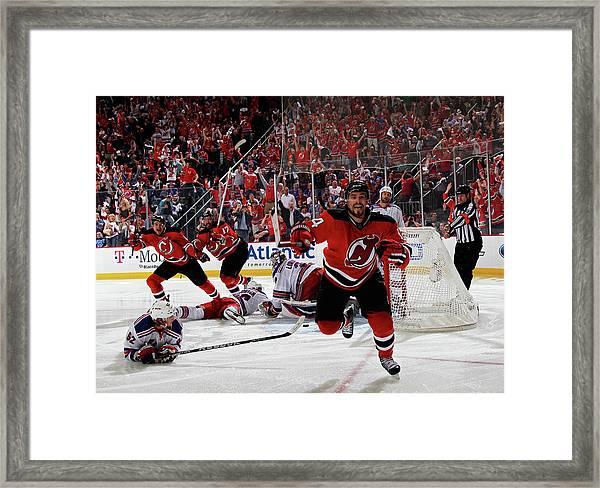 New York Rangers V New Jersey Devils - Framed Print by Bruce Bennett