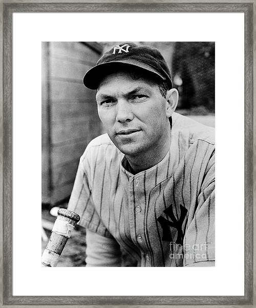 New York Yankees Framed Print by The Stanley Weston Archive