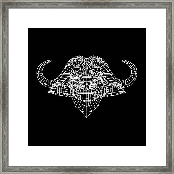 Night Buffalo Framed Print