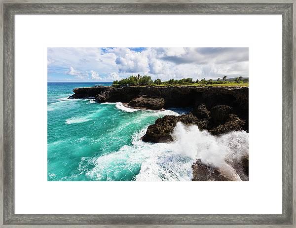 North Point, Barbados Framed Print